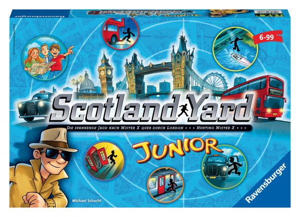 SCOTLAND YARD JR. - Ravensburger Classic - Toys Center RAVENSBURGER CLASSIC Unisex 12+ Anni, 5-7 Anni, 5-8 Anni, 8-12 Anni ALTRI