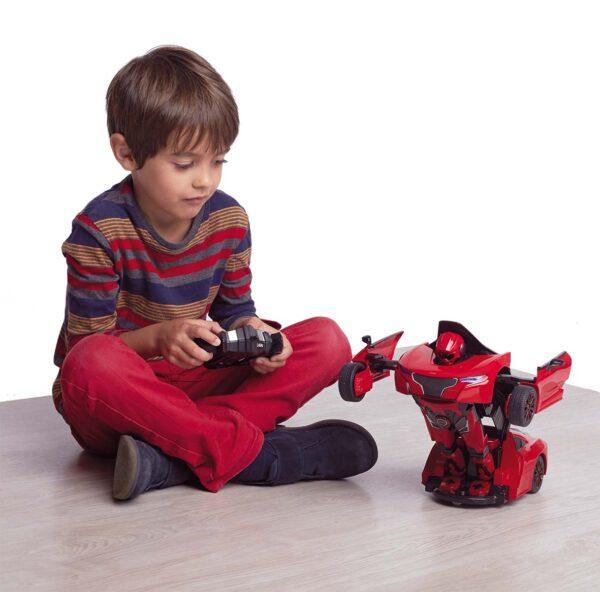 AUTO ROBOT TRASFORMABILE R/C ROSSO MOTOR&CO Maschio 8-12 Anni ALTRI