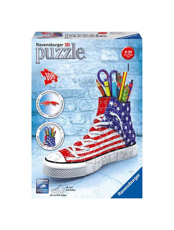 Girly Girl 3D: Sneaker Flag - Ravensburger Puzzle 3d - Toys Center RAVENSBURGER PUZZLE 3D Unisex 12+ Anni, 5-8 Anni, 8-12 Anni ALTRI