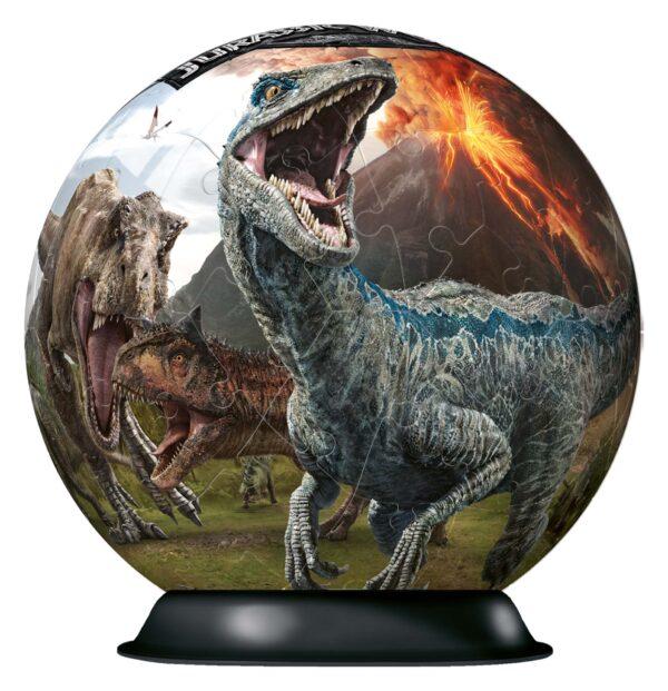 RAVENSBURGER PUZZLE 3D JURASSIC WORLD Jurassic World - 3D Puzzleball Ravensburger Unisex 12+ Anni, 8-12 Anni