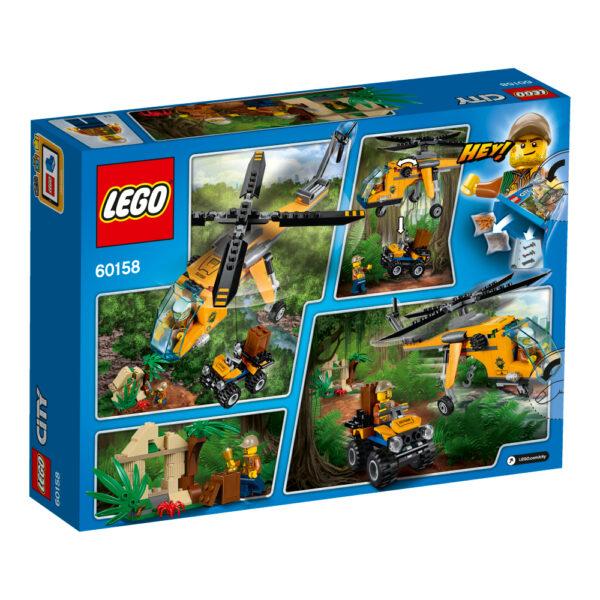 LEGO City - Elicottero da carico della giungla -60158 JURASSIC WORLD Maschio 12+ Anni, 5-8 Anni, 8-12 Anni LEGO CITY