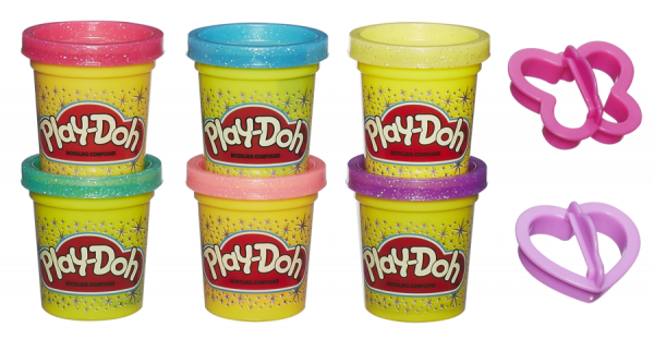 Sparkle 6 Vasetti - PLAY-DOH - Kit artistici e pittura
