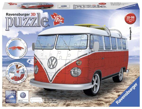 3D Puzzle Building - Camper Volkswagen - Altro - Toys Center ALTRO Unisex 12+ Anni, 8-12 Anni ALTRI