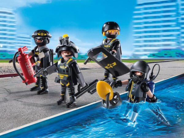 SQUADRA D'ASSALTO DELLA POLIZIA - Playmobil - City Action - Toys Center PLAYMOBIL - CITY ACTION Maschio 12+ Anni, 3-5 Anni, 5-8 Anni, 8-12 Anni ALTRI