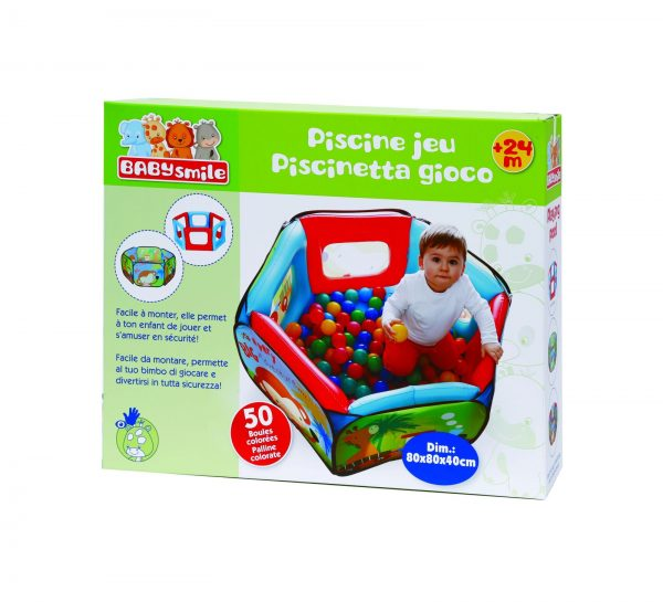 PISCINETTA GIOCO 50 PALLINE - Baby Smile - Toys Center BABY SMILE Unisex 12-36 Mesi, 3-5 Anni, 5-8 Anni ALTRI