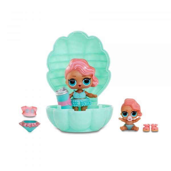 LOL Surprise PEARL SURPRISE, Sfera con 2 Mini Doll edizioni speciali LOL e LIL Sisters perlate, 6 accessori, 1 biberon - LOL - Personaggi collezionabili
