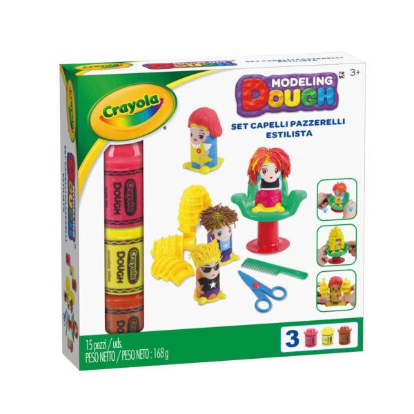 Pasta da modellare - Set Capelli Pazzerelli Crayola ALTRO Unisex 12-36 Mesi, 3-5 Anni, 5-8 Anni, 8-12 Anni ALTRI