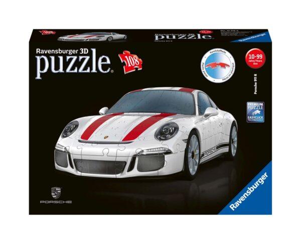 Porsche 911 - Puzzle 3D Veicoli Ravensburger RAVENSBURGER PUZZLE 3D Unisex 12+ Anni, 8-12 Anni ALTRI