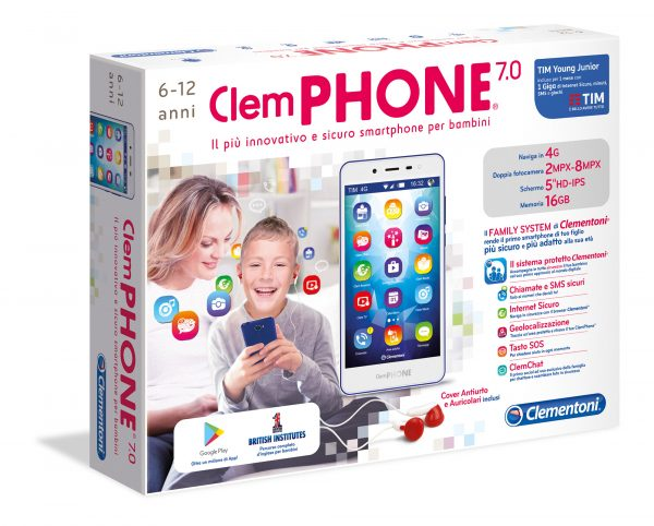 CLEMPHONE 7.0 - Altro - Toys Center ALTRI Unisex 12+ Anni, 5-8 Anni, 8-12 Anni ALTRO