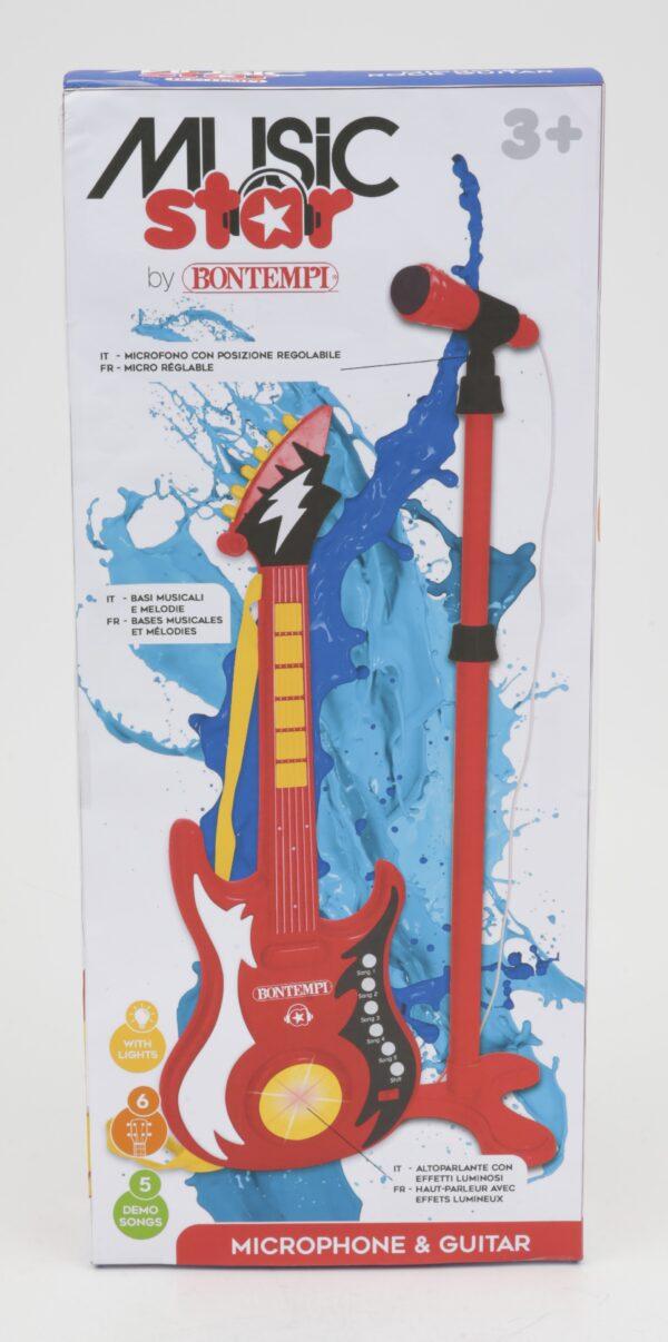 MUSIC STAR Chitarra elettronica con microfono boy TOYS CENTER Maschio 12-36 Mesi, 12+ Anni, 3-5 Anni, 5-8 Anni, 8-12 Anni MUSIC STAR