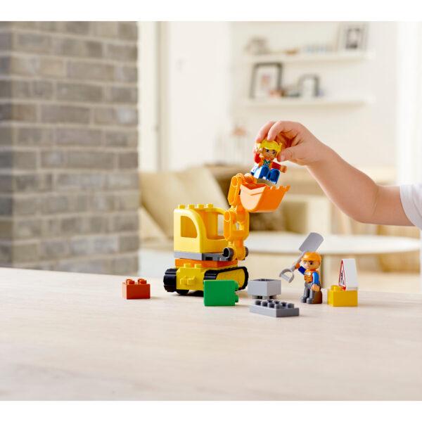 LEGO DUPLO ALTRI 10812 - Camion e scavatrice cingolata Unisex 12-36 Mesi, 3-4 Anni, 3-5 Anni, 5-7 Anni, 5-8 Anni
