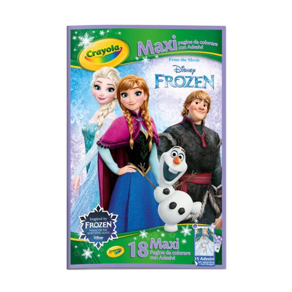 CRAYOLA ALTRI Maxi Pagine con adesivi assortite Frozen, Principesse, Cars Unisex 12-36 Mesi, 3-5 Anni, 5-8 Anni