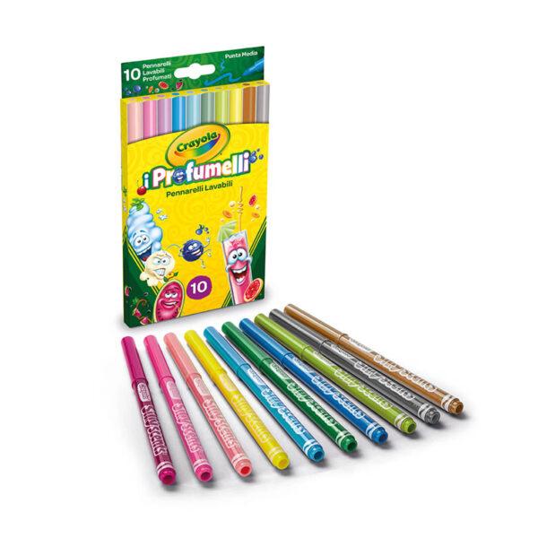 10 Pennarelli lavabili profumati punta media i Profumelli Crayola ALTRI Unisex 12-36 Mesi, 12+ Anni, 3-5 Anni, 5-8 Anni, 8-12 Anni ALTRO