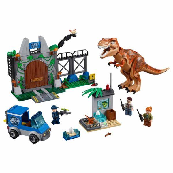 LEGO JUNIORS JURASSIC WORLD 10758 - L'evasione del T. rex - Lego Juniors - Toys Center Unisex 3-5 Anni, 5-8 Anni