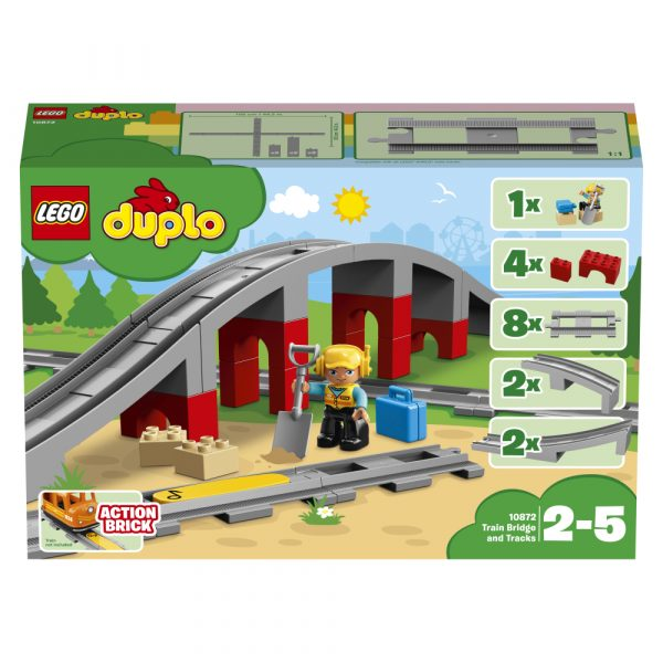 LEGO DUPLO ALTRI 10872 - Ponte e binari ferroviari Unisex 12-36 Mesi, 12+ Anni, 3-5 Anni, 5-8 Anni, 8-12 Anni