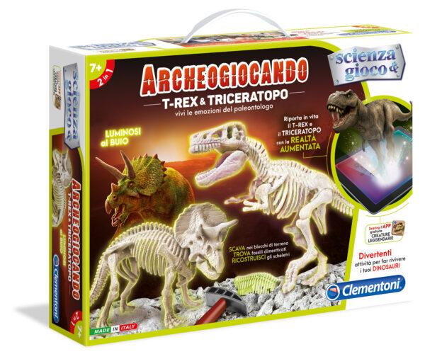 Archeogioc T-Rex & Triceratopo - Focus / Scienza&gioco - Toys Center FOCUS / SCIENZA&GIOCO Unisex 5-7 Anni, 8-12 Anni ALTRI