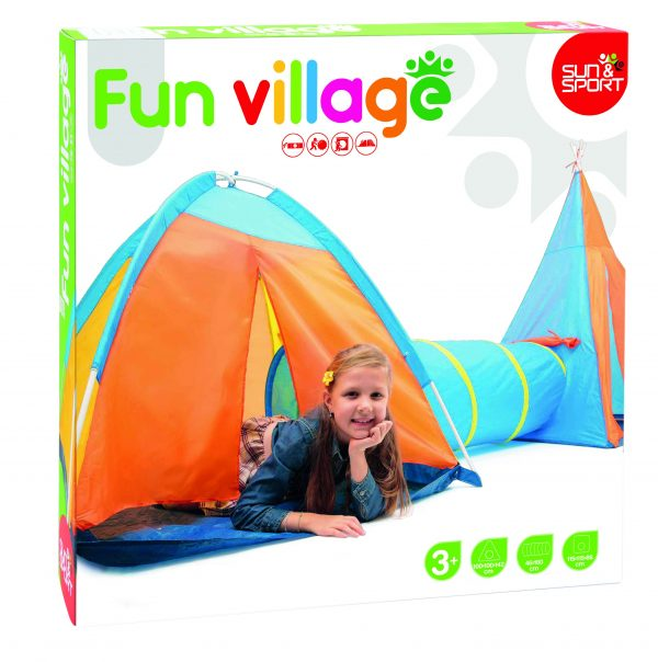 VILLAGGIO INDIANO 3 IN 1 - Sun&sport - Toys Center SUN&SPORT Unisex 12-36 Mesi, 3-5 Anni, 5-8 Anni ALTRI