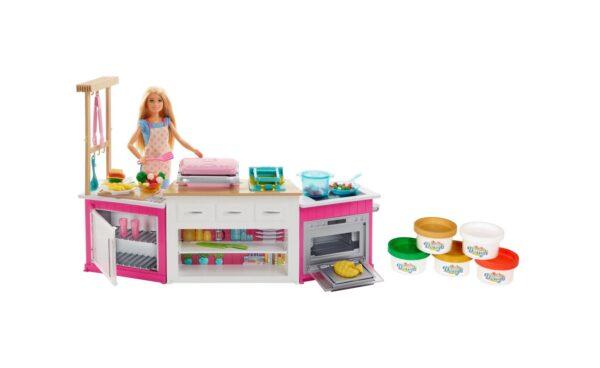Barbie - Cucina Da Sogno Con Bambola, 5 Aree Di Gioco, Luci E Suoni, Giocattolo Per Bambini 4 + Anni Barbie Femmina 12+ Anni, 8-12 Anni ALTRI
