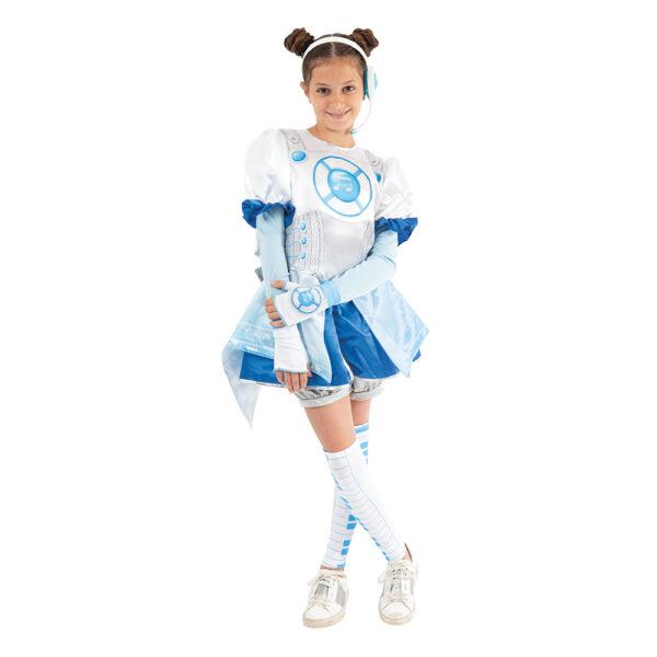 Giochi Preziosi - Miracle Tunes Travestimento Jasmine, Colore Azzurro, con cuffie, taglie S/M/L ALTRI Femmina 8-12 Anni ALTRO