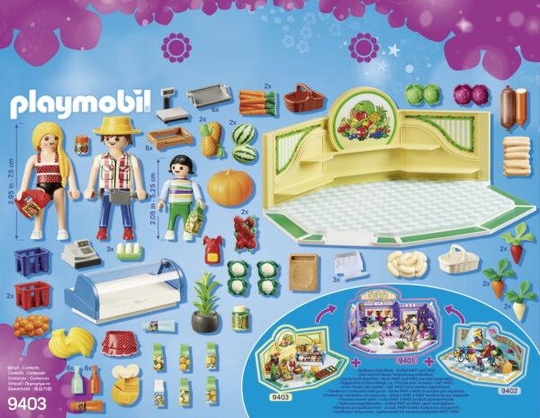NEGOZIO DI ALIMENTARI BIO - Playmobil - City Life - Toys Center ALTRI Femmina 12+ Anni, 3-5 Anni, 5-8 Anni, 8-12 Anni Playmobil City Life