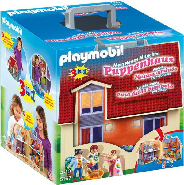CASA DELLE BAMBOLE PORTATILE - PLAYMOBIL - DOLL HOUSE - Giochi per l'infanzia