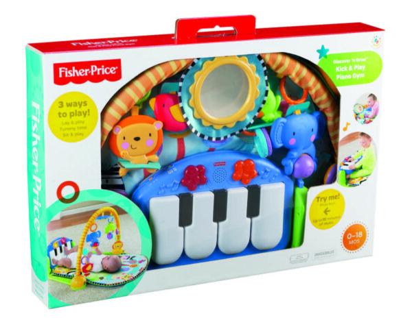 FISHER-PRICE ALTRI mattel-fisher price-infant-BMH49-PALESTRINA BABY PIANO 4 IN 1 Unisex 0-12 Mesi
