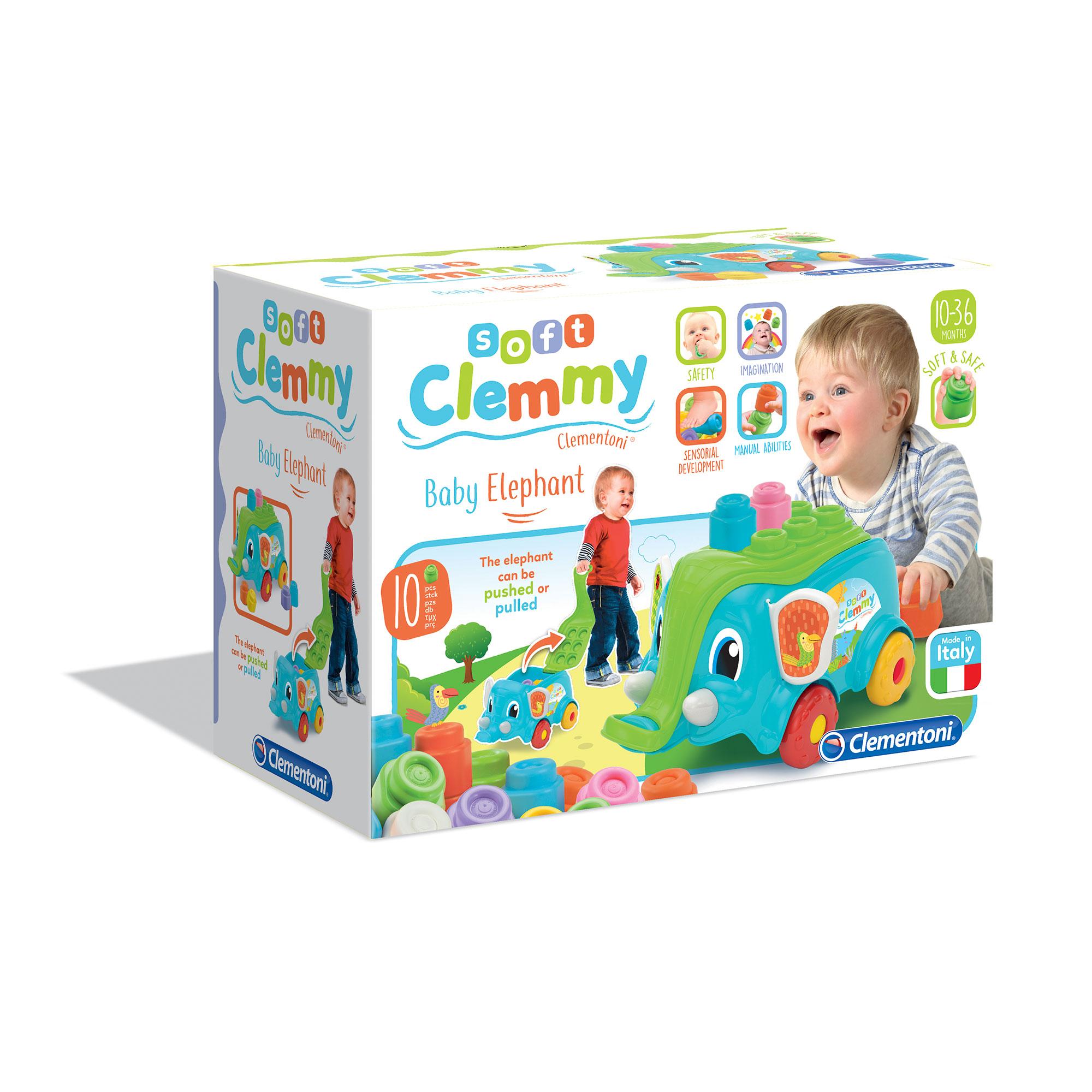 Clementoni - 17162 - carrettino elefante - ALTRO