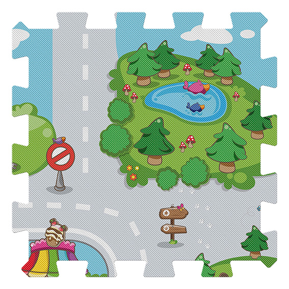 ALTRI Tappeto Puzzle Città Chicco 0-2 Anni, 3-4 Anni Unisex