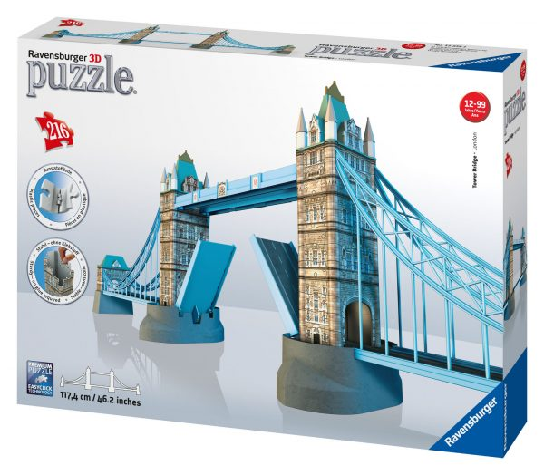 3D PUZZLE TOWER BRIDGE - Ravensburger Puzzle 3d - Toys Center RAVENSBURGER PUZZLE 3D Unisex 12+ Anni, 8-12 Anni ALTRI