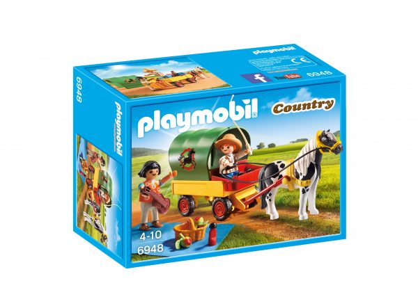Pic nic con calesse PLAYMOBIL - COUNTRY Unisex 3-4 Anni, 3-5 Anni, 5-7 Anni, 5-8 Anni, 8-12 Anni ALTRI
