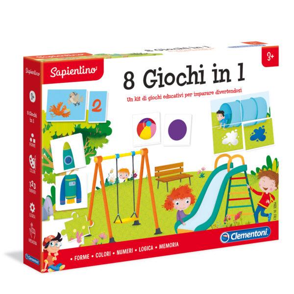 8 GIOCHI IN 1 - Sapientino - Toys Center SAPIENTINO Unisex 12-36 Mesi, 3-5 Anni, 5-8 Anni ALTRI