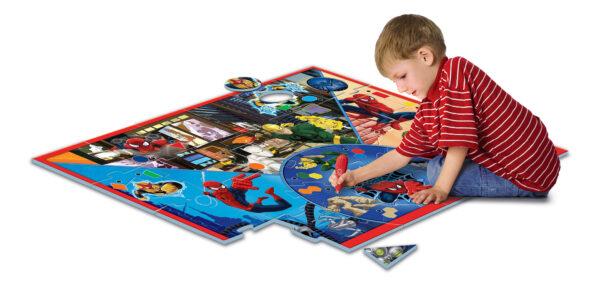 Clementoni - 13276 - Tappeto Gigante Interattivo Spiderman Spiderman Unisex 0-12 Mesi, 12-36 Mesi, 3-4 Anni, 3-5 Anni Marvel