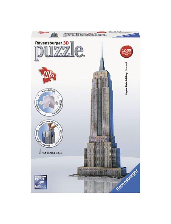 Puzzle 3D Empire State Building - Ravensburger Puzzle 3d - Toys Center RAVENSBURGER PUZZLE 3D Unisex 12+ Anni, 8-12 Anni ALTRI