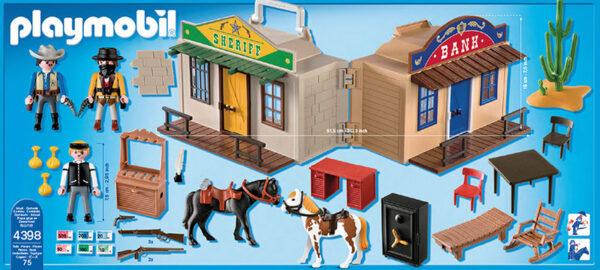 VILLAGGIO WESTERN PORTATILE - Playmobil - Western - Toys Center - PLAYMOBIL - WESTERN