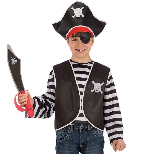 Set pirata bimbo (gilet, bandana, cappello e benda) ALTRO Unisex 12-36 Mesi, 12+ Anni, 3-5 Anni, 5-8 Anni, 8-12 Anni ALTRI