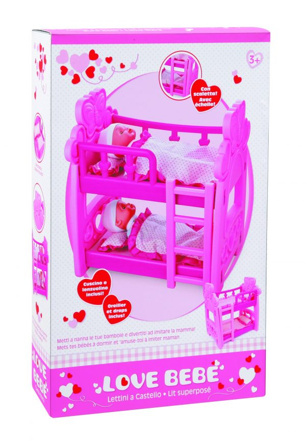 LOVE BEBÈ Lettino a castello TOYS CENTER Femmina 12-36 Mesi, 3-5 Anni, 5-8 Anni LOVE BEBÈ