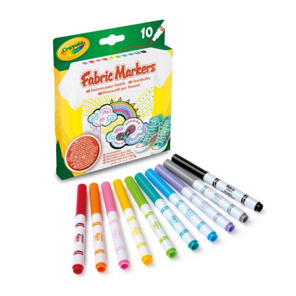 10 Pennarelli per tessuto Crayola ALTRI Unisex 12-36 Mesi, 12+ Anni, 3-5 Anni, 5-8 Anni, 8-12 Anni CRAYOLA