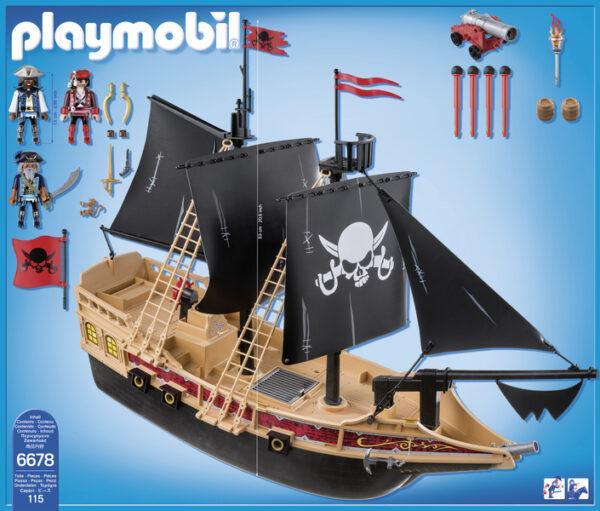 6678 - GALEONE DEI PIRATI ALTRI Maschio 3-5 Anni, 5-8 Anni Playmobil Pirates