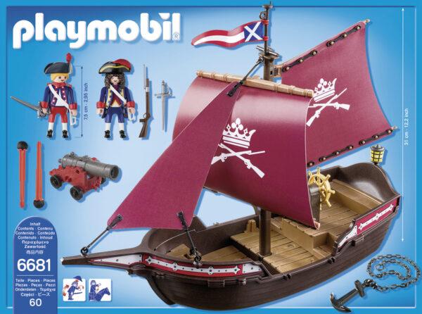 6681 -FREGATA DELLA MARINA REALE - Playmobil Pirates - Fino al -30%