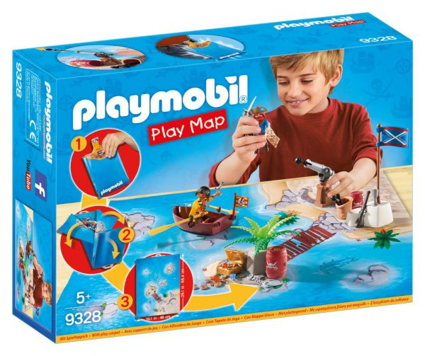 PLAY MAP - IL TESORO DEI PIRATI PLAYMOBIL - PLAY MAP Maschio 12+ Anni, 3-5 Anni, 5-8 Anni, 8-12 Anni ALTRI