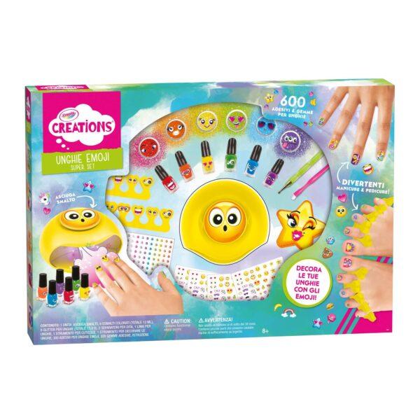 Super Set Unghie Emoji Crayola Creations ALTRO Femmina 12+ Anni, 5-8 Anni, 8-12 Anni ALTRI