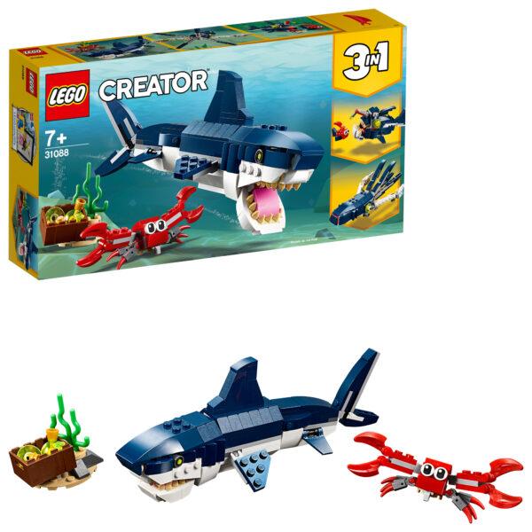 31088 - Creature degli abissi - Lego Creator - Toys Center LEGO CREATOR Unisex 12+ Anni, 5-8 Anni, 8-12 Anni ALTRI
