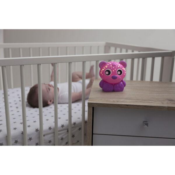 Buonanotte orso - luce notturna e proiettore (rosa) ALTRI Femmina 0-12 Mesi, 12-36 Mesi ALTRO