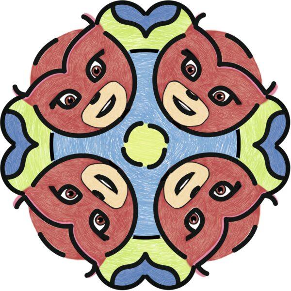 Junior Mandala Designer® PJ Masks - Gioco Creativo Ravensburger 29705 - Ravensburger Classic - Toys Center Unisex 12+ Anni, 3-5 Anni, 5-8 Anni, 8-12 Anni PJ Masks RAVENSBURGER CLASSIC