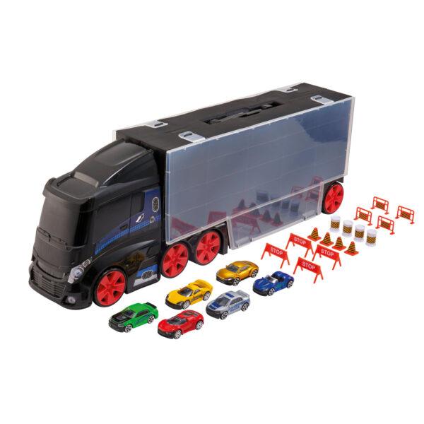 Camion porta auto con 6 auto - Motor&co - Toys Center MOTOR&CO Maschio 12-36 Mesi, 3-5 Anni, 5-8 Anni, 8-12 Anni ALTRI