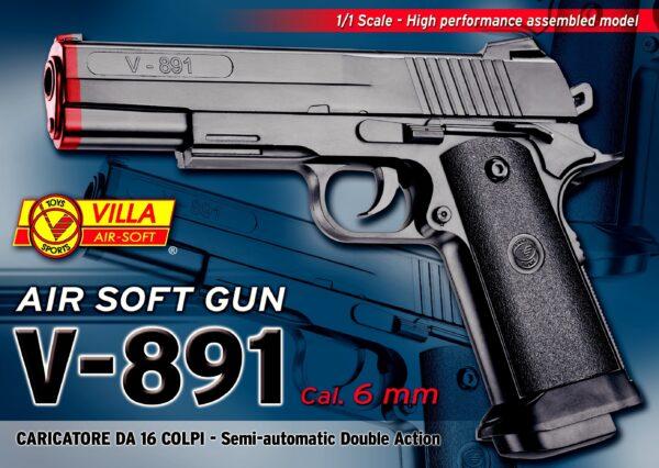 Villa Giocattoli - 891 Air Soft:  V-891  Cal. 6Mm. ALTRI Unisex  ALTRO