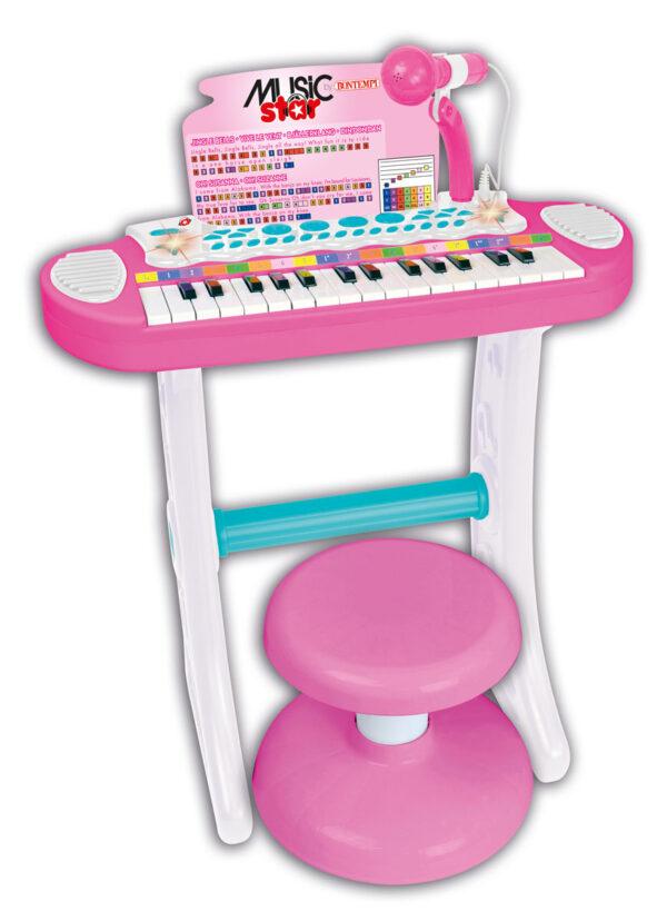 MUSIC STAR TASTIERA GIRL CON SGABELLO MUSICSTAR Femmina 12-36 Mesi, 12+ Anni, 3-5 Anni, 5-8 Anni, 8-12 Anni ALTRI