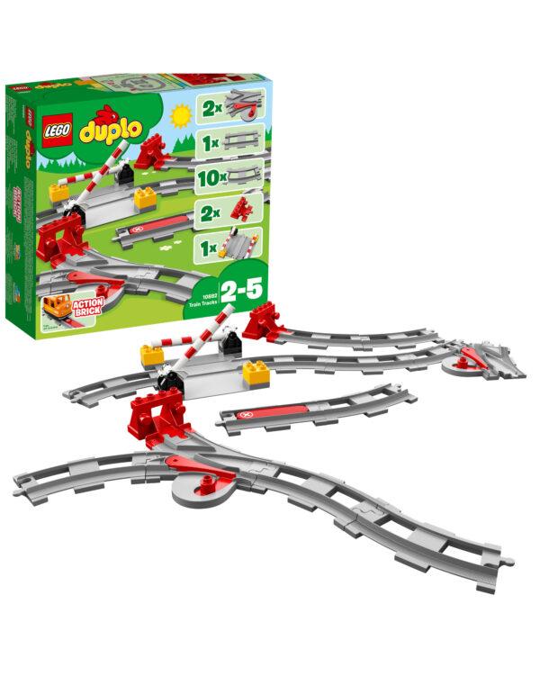 10882 - Binari ferroviari LEGO DUPLO Unisex 12-36 Mesi, 12+ Anni, 3-5 Anni, 5-8 Anni, 8-12 Anni ALTRI