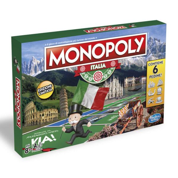 HASBRO GAMES ALTRI Monopoly Italia - Hasbro Games - Toys Center Unisex 12+ Anni, 5-8 Anni, 8-12 Anni