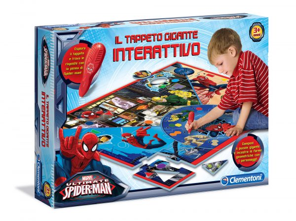 Clementoni - 13276 - Tappeto Gigante Interattivo Spiderman Marvel Unisex 0-12 Mesi, 12-36 Mesi, 3-4 Anni, 3-5 Anni Spiderman